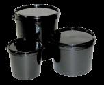 Black Bucket With Lid