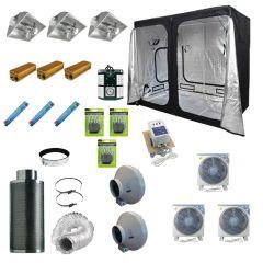 2.4 x 1.2M 3x 600w 400v Air Cooled  Light Kit Tent
