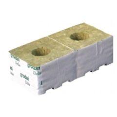 "Grodan 3"" Rockwool Cube with Large Hole"