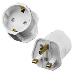 UK Plug to 3 Pin EU Socket