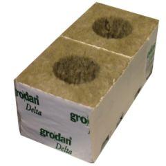 "Grodan 4"" Rockwool Cube with Large Hole"