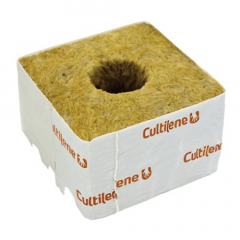 """Cultilene 4"""" Rockwool Cube with Large Hole"""
