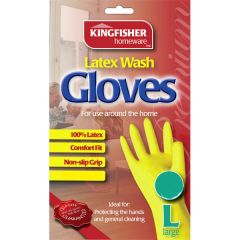 Latex Wash Gloves - Large