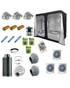 2.4 x 1.2M 3x 600w 400v Air Cooled  Light Kit Tent