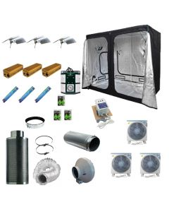 2.4 x 1.2M 3x 600w 400v Light Kit Tent