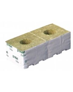 "Grodan 3"" Rockwool Cube with Large Hole"