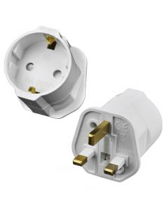 UK Plug to 3 Pin EU Socket
