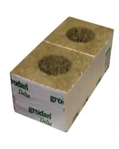 "Grodan 4"" Rockwool Cube with Large Hole"