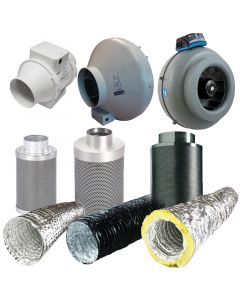 4 Inch Fan, Filter, Ducting Kit