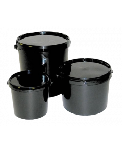 Black Bucket With Lid