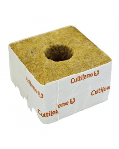 "Cultilene 4"" Rockwool Cube with Large Hole"