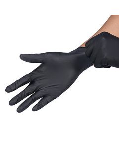 Black Disposable Latex Gloves 100pcs