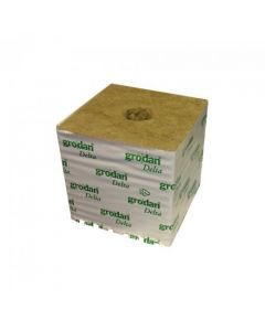 "Grodan 6"" Rockwool Cube With Large Hole"