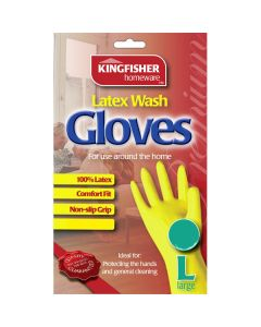 Latex Wash Gloves - Large